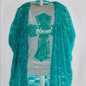 GIRLS LACE COVER UP